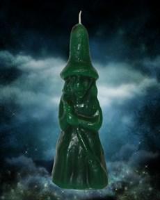 Свеча Ведьмина сила зелёная - фото 10048