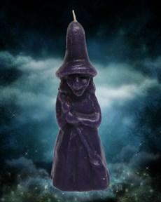 Свеча Ведьмина сила фиолетовая - фото 10052