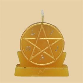 Богатство (большая - желтая) свеча - фото 10060