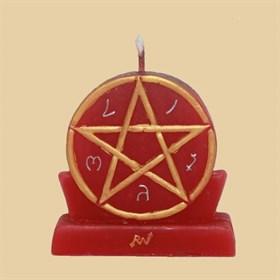 Природная мощь (большая - красная) свеча - фото 10062