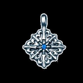 Амулет Elysium Восьмиконечный крест с лилиями - фото 10627
