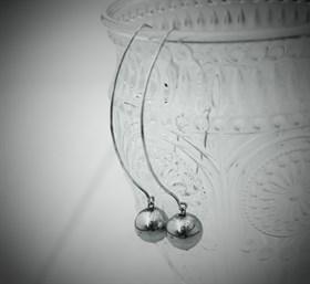 Серьги Ведьмина сила Гематит серебро - фото 11070