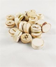 Руны из Березы мешочек в комплекте(выжженные) - фото 13217