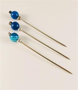 Игла ритуальная для свечей и обрядов Синий Агат - фото 13238