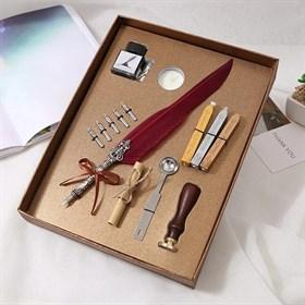 Набор с Бордовым пером (14 предметов) - фото 14128