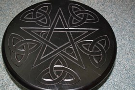 Алтарный столик черный - фото 4931