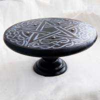 Алтарный столик СЕРЕБРЯНАЯ ПЕНТАГРАММА (сосна) + камни - фото 4940