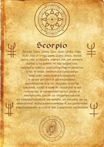 Свиток Ангела Зодиака Скорпион - фото 5663