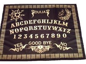 Колдовская доска Уиджи черная с золотом (скатерть) - фото 5735