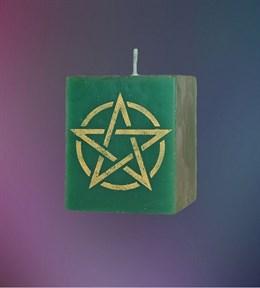 Свеча Универсальная Пентаграмма (зеленая) - фото 6093