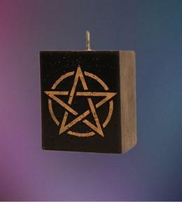 Свеча Универсальная Пентаграмма (черная) - фото 6094