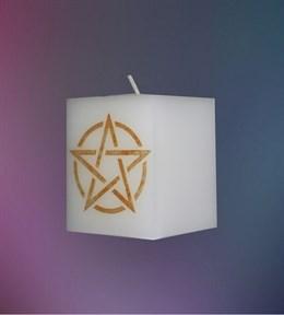 Свеча Универсальная Пентаграмма (белая) - фото 6095