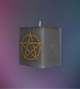 """Устранение магических влияний"" свеча Пентаграмма - фото 6099"