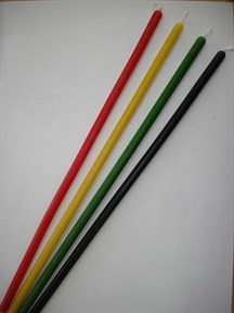 Восковые свечи цветные тонкие, 30 см (6 цветов) - фото 6199