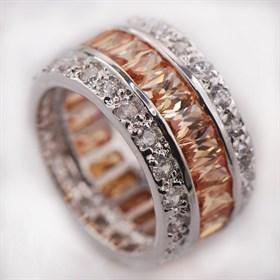 """Кольцо """"Драгоценный круг"""", морганит - фото 6361"""