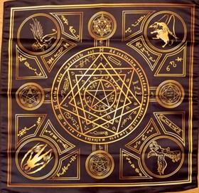 Скатерть-алтарь Энохианской магии с золотом - фото 6481
