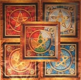 """Комплект Магических скатертей """"5 лучей Викканской магии"""" - фото 6530"""