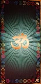 """Скатерть для медитаций """"Аум-зеленый, большой"""" - фото 6548"""