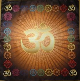 """Скатерть для медитаций """"Аум-оранжевый"""" - фото 6550"""