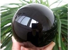 Шар Черный обсидиан 10 см - фото 7418