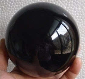 Шар Черный Обсидиан 8 см - фото 7420