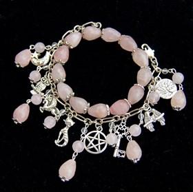 """Комплект браслетов """"Ведьмина сила"""" розовый кварц - фото 7452"""