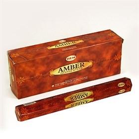 Amber - Амбер (№9) благовоние Hem 6-гранки - фото 7519