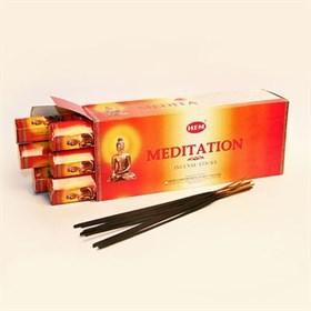 Meditation (№108)/ Медитация благовоние Hem 6-гранки - фото 7609