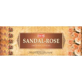 Sandal - Rose (№151) / Сандал - Роза благовоние Hem 6-гранки - фото 7645