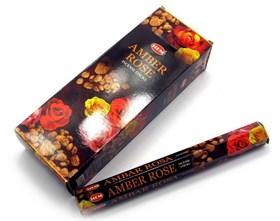 Amber - Rose (№7) / Амбер - Роза  благовоние Hem 6-гранки - фото 8381