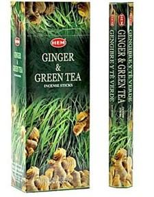 Ginger - Green Tea (№72)/ Имбирь и Зеленый чай благовоние Hem 6-гранки - фото 8409