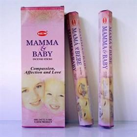 Mama & Baby (№107) / Мама и Ребенок благовоние Hem 6-гранки - фото 8423