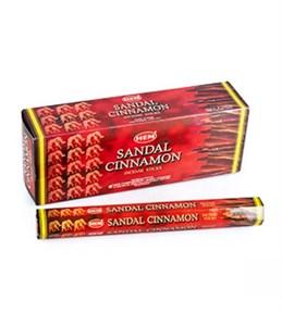 Sandal-Cinnamon (№148) / Сандал-Корица благовоние Hem 6-гранки - фото 8443