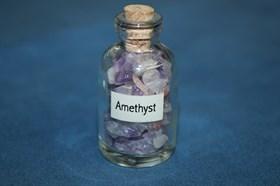 Аметист: камни в бутылочке - фото 8786
