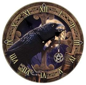 """Часы настенные """"Ворон с пентаграммой"""" - фото 8889"""