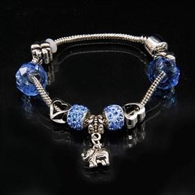 """Браслет """"Пандора"""" со слоником (Синий) - фото 9205"""