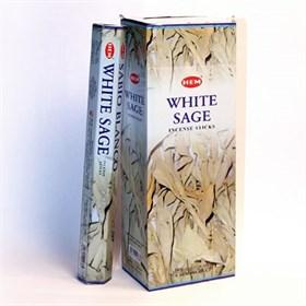 Whit Sage (№176) / Белый шалфей благовоние Hem 6-гранки - фото 9790