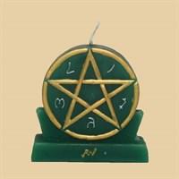 Симпатия и привлекательность (большая - зеленая) свеча