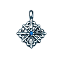 Амулет Elysium Восьмиконечный крест с лилиями