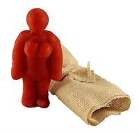 Кукла Вуду женский вольт (Красный)