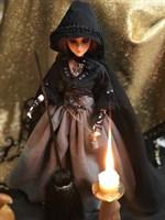 """Кукла - помощница """"Маленькая колдунья"""" 25 см. на подставке"""