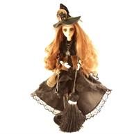 Кукла - помощница Маленькая колдунья 25 см.на подставке