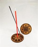 """""""Любовь и гармония"""" - подставка с Русскими рунами под благовония и часовую свечу"""