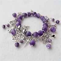 Комплект браслетов Ведьмина сила Аметист (матовый)