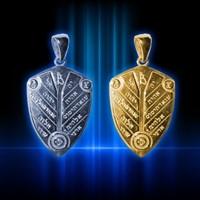Амулет Божественный щит мудрости серебро (№8)