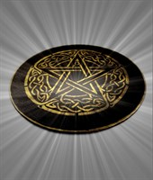 Мини алтарь Пентаграмма золото