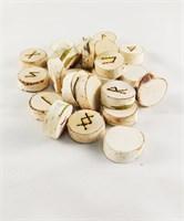 Руны из Березы мешочек в комплекте(выжженные)