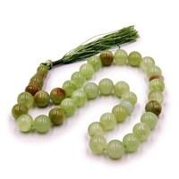 Четки Зеленый Оникс камень 10 мм (33 бусины)