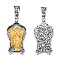 """Подвеска """"Ангел Хранитель"""", серебро с позолотой 002"""