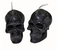 """Свеча """"Вспомогательная"""" - череп малый - черный, 2 шт"""